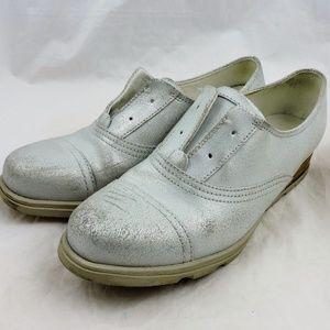 Sorel Major oxfords slip on shoes pearl white 8